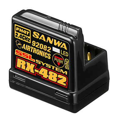 Sanwa RX-482 (2.4GHz, 4-Channel, FHSS-4, SSL) Telemetry Receiver w/Internal Antenna