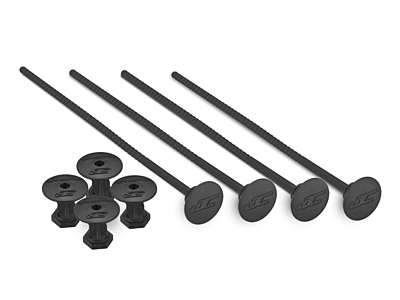 JConcepts 1/10Th Off-Road Tire Stick - Hold 4 Mounted Tires (Black)