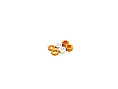 Hiro Seiko 3mm (1.5/2.0/2.5) Orange Alloy Spacer Set (6pcs·2pcs each)