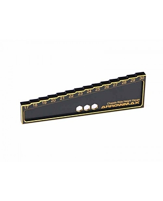 Arrowmax Chassis Ride Height Gauge 17 to 30mm for 1/8 Offroad Black Golden
