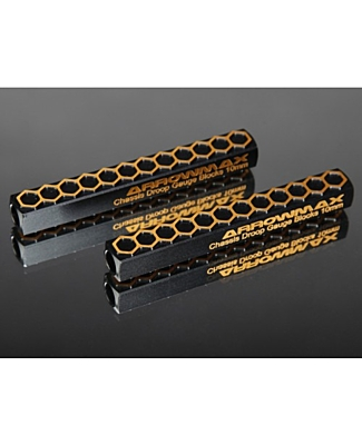 Arrowmax Chassis Droop Gauge Blocks 10 MM Black Golden (2pcs)
