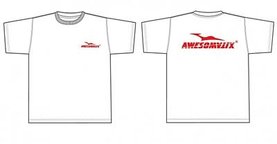 Awesomatix T-Shirt White +Red Print (L size)