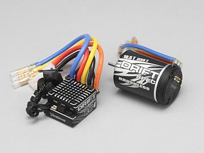 Yokomo DRIFT SPEC Combo BL-RS4 ESC & 10.5T Zero 2 Black Motor