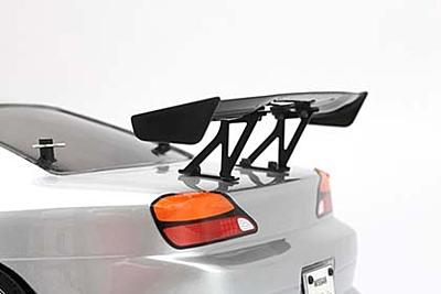 Yokomo Aluminum Wing Stay (Black/Mid) for Drift Car