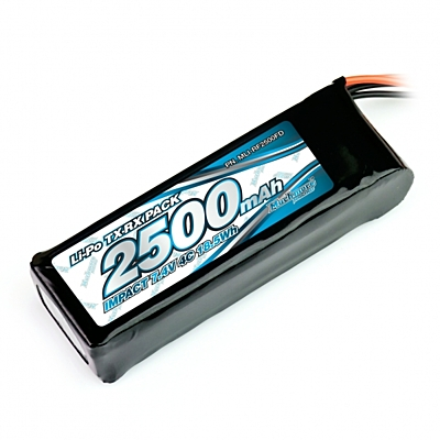 Muchmore IMPACT Li-Po Battery 2500mAh/7.4V 4C Flat Size for Tx & Rx