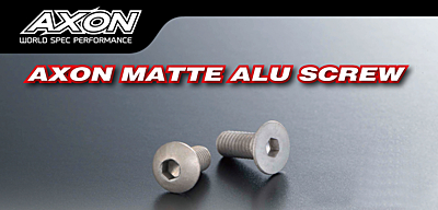 AXON Flat Head Matte Alu Screw 3x6mm (4pcs)