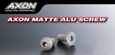 AXON Flat Head Matte Alu Screw 3x6mm (4pcs)