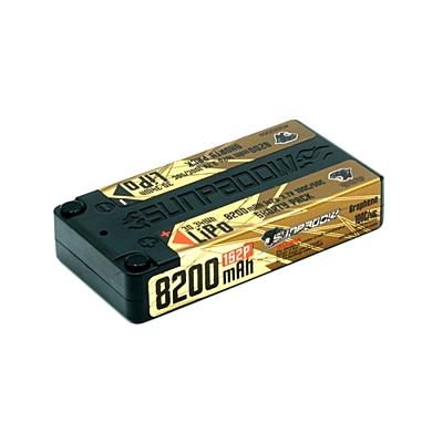 Sunpadow 8200mAh 3.7V 1S 100C/50C LiPo (4mm, 162g)