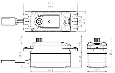 Savöx SC-1251MG Low Profile (0.09s/9.0kg/6.0V) Coreless Servo