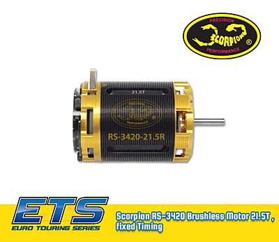 Scorpion RS-3420 Brushless Motor 21.5T , fixed Timing