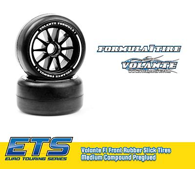 Volante F1 Front Rubber Slick Tires Medium Compound Preglued (Blue·2pcs)