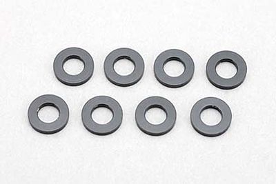 Yokomo 3×6×1.0mm Aluminum Shim (8pcs·Black)