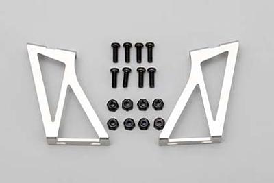 Yokomo Aluminum Wing Stay (Silver) for Drift Car