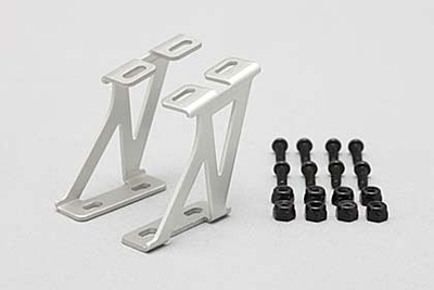Yokomo Aluminum Wing Stay (Silver/Mid) for Drift Car