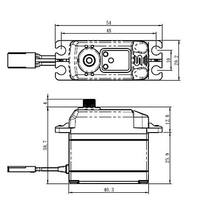 Savöx SB-2273SG (0.095s/28.0kg/7.4V) Brushless Servo