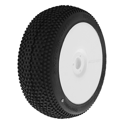 ProCircuit Hot Dices Sport (Soft Compound) Off-Road 1:8 Buggy Tires Pre-Mounted - White (2pcs)
