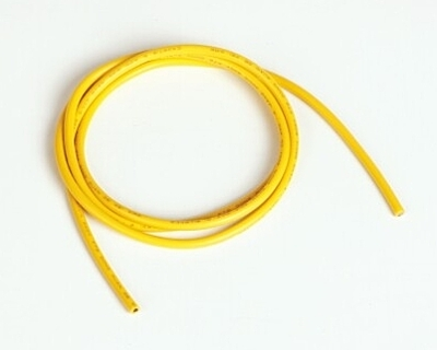 Graupner Silicon Wire Ø2.0mm, 1m, Yellow, 14AWG