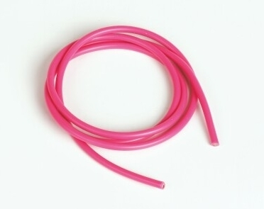 Graupner Silicon Wire Ø2.6mm, 1m, Pink, 13AWG