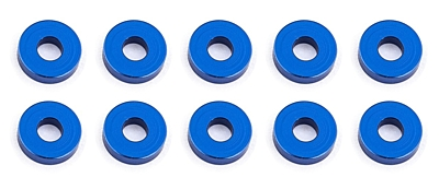 Associated Ballstud Aluminum Washers, 7.8x2.0mm (10pcs·Blue)