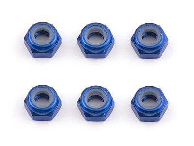 Associated FT Locknuts, M3, Aluminum (Blue)