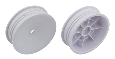 Associated 2WD Slim Front Wheels, 2.2 in, 12 mm Hex (White)