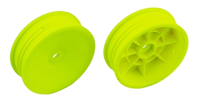 Associated 2WD Slim Front Wheels, 2.2 in, 12 mm Hex (Yellow)