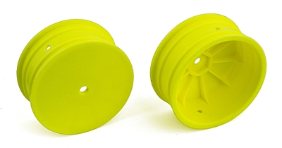 Associated 4WD Front Wheels, 2.2in, 12mm Hex (Yellow)