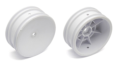 Associated 2WD Front Wheels, 2.2in, 12mm Hex (White)