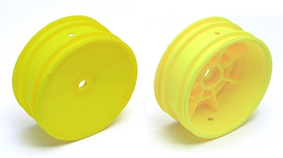 Associated 2WD Front Wheels, 2.2in, 12mm Hex (Yellow)