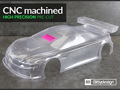 Bittydesign M410 Light Weight Clear Body Pre-Cut for YOKOMO BD8 (190mm TC)