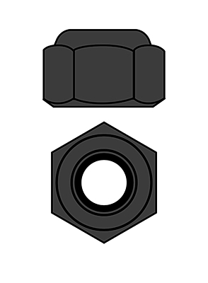 Corally Steel Nylstop Nut M4 (Black Coated·10pcs)