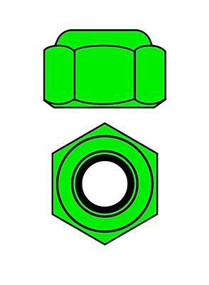 Corally Aluminium Nylstop Nut M4 (Green·10pcs)