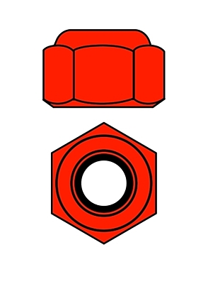 Corally Aluminium Nylstop Nut M4 (Red·10pcs)