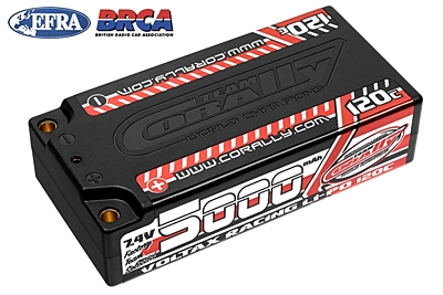 Voltax 120C LiPo Battery - 5000mAh - 7.4V - Shorty 2S - 4mm Bullit