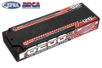 Voltax 120C LiPo HV Battery - 6200 mAh - 7.4V - LCG Stick 2S - 4mm Bullit