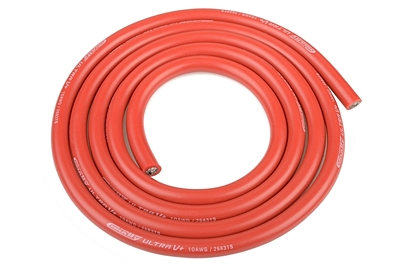 Corally Ultra V+ Silicone Wire - Super Flexible - Red - 10AWG (1m)