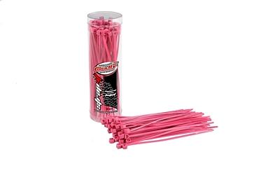 Corally Strap-it Cable Tie Raps 2.5x100mm (Pink·50pcs)