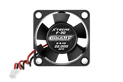 ESC Ultra High Speed Cooling Fan 30mm - 6v-8,4V - Dual ball bearings - ESC connector