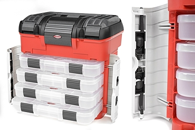 Corally Pit Case - 4 Assortment Box Drawers - Universal Pre-Cut Foam