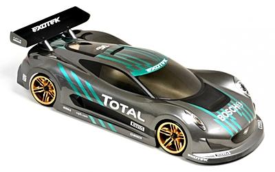 Exotek J-ZERO 1/10 USGT Race Body Clear Lexan w/ Wing
