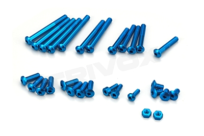 KO Propo Aluminum Screw set for EX-RR/EX-2 (Blue)