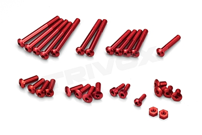 KO Propo Aluminum Screw set for EX-RR/EX-2 (Red)