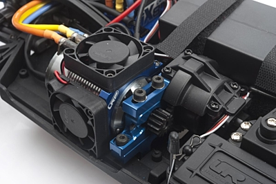 LRP WorksTeam Alum. Fan mount - 41mm Motordiam. for 2x40mm Fan