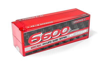 Nosram Graphene-2 Stock Spec 1/8 Offroad 6600mAh 14.8V 4S 120C/60C LiPo (5mm, 624g)