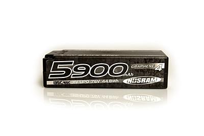 Nosram Graphene-4 Stock Spec Shorty 5900mAh 7.6V 2S 135C/65C HV LiPo (5mm, 222g)