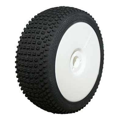 ProCircuit Road Runner Sport (Soft Compound) Off-Road 1:8 Buggy Tires Pre-Mounted - White (2pcs)