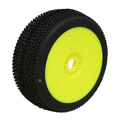 ProCircuit Marathon Green (Soft Compound) Off-Road 1:8 Buggy Tires Pre-Mounted - Yellow (2pcs)