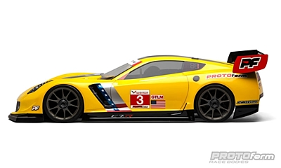 PROTOform Chevrolet Corvette C7.R Clear Body (1:8 GT) (GT2) (Long Wheelbase)