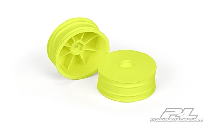 "Pro-Line Velocity 2.2"" Hex Front Wheels Yellow for RB6, B5, B5M, B6, and B6D Front"
