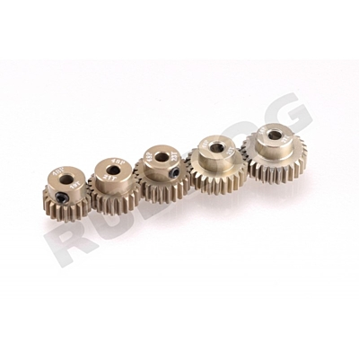 Ruddog 48dp Aluminium Pinion 5-Pack Odd (19, 21, 23, 25, 27 T)
